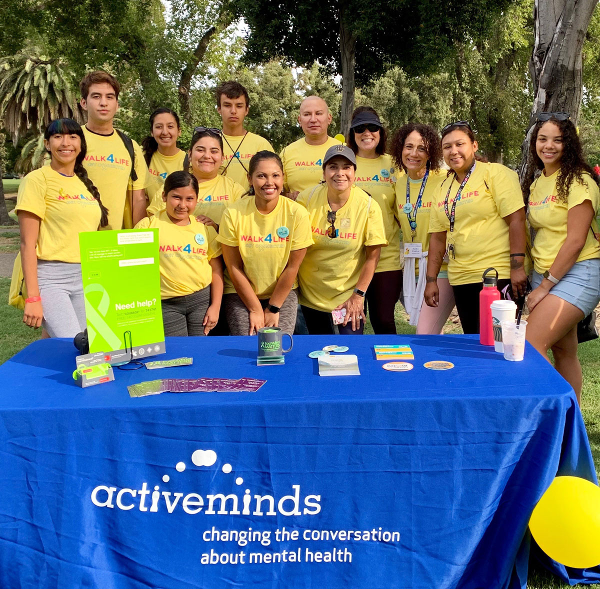 Active Minds participates at the Walk4Life Event