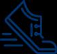 Foot running icon