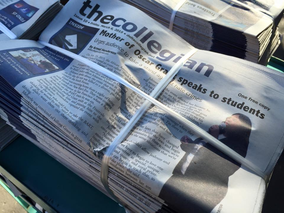 The collegian, print editions