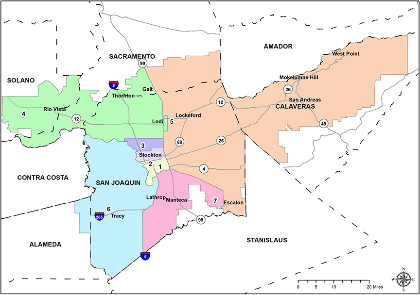 District Map | San Joaquin Delta College on