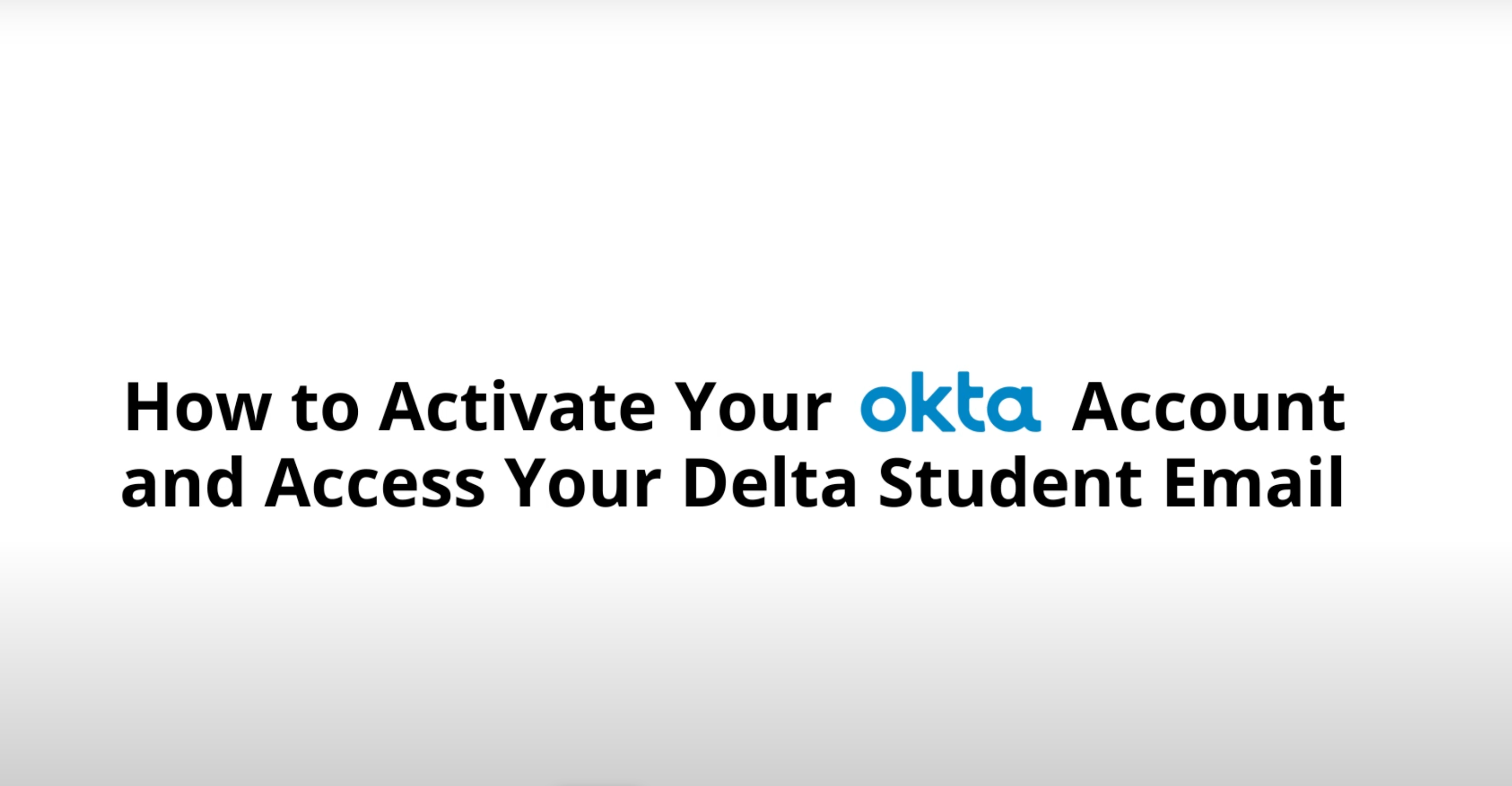 how to activate your okta account