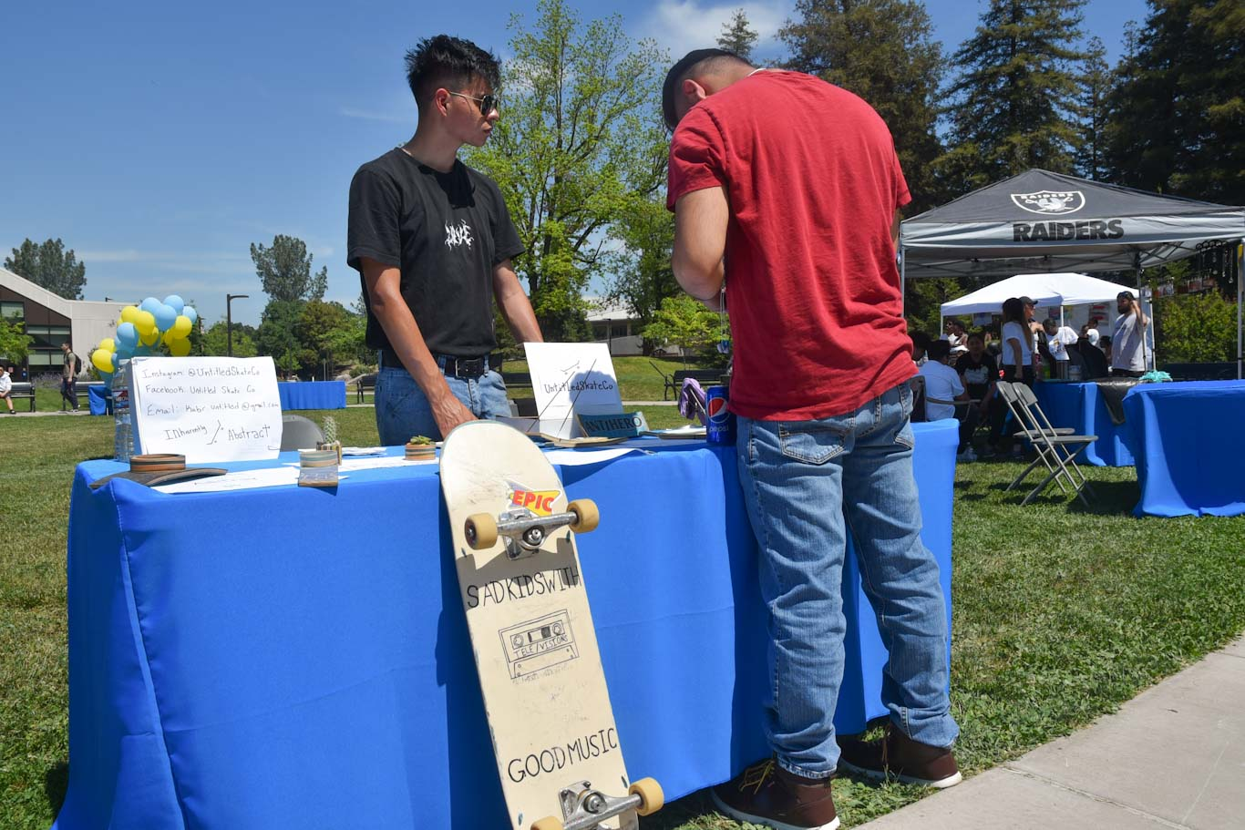 Kabir Gonzalez recycles old skateboards into bottle openers, plant containers and many other options. He participated in the Student Entrepreneur Expo at San Joaquin Delta College.