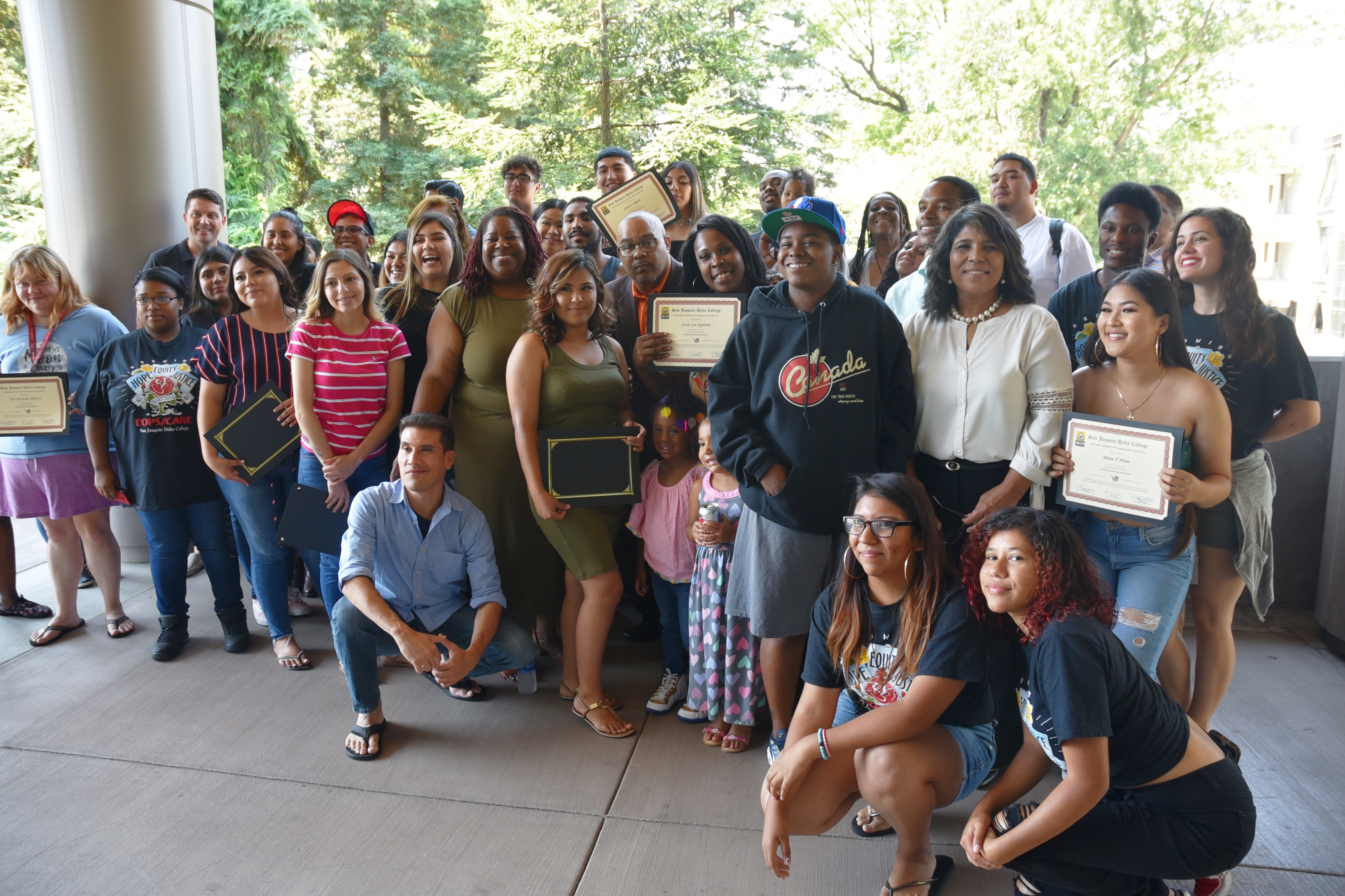 About 50 students finished San Joaquin Delta College's EOPS summer readiness program.