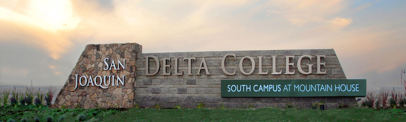 Sign in front of South Campus at Mountain House