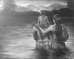 """""""For a Better Life,"""" by Luz Lua, is one of the pieces featured in the upcoming exhibition """"Latinx: Art Beyond the Border"""" at San Joaquin Delta College's L.H. Horton Jr. Gallery."""