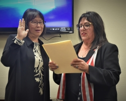 Trustee Van Ha To-Cowell is sworn in as Delta's newest trustee.