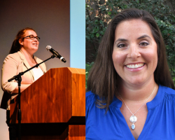 "Tara Cuslidge-Staiano and Becky Plaza have been named ""oustanding new faculty"" for 2017-18"
