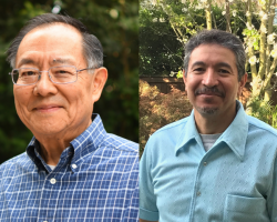 Dr. Steve Itaya, left, and Mario Moreno have been named distinguished faculty members at San Joaquin Delta College.