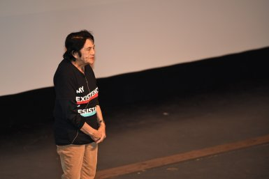 Civil rights activist Dolores Huerta spoke at San Joaquin Delta College in February 2018. The College recently renamed its plaza in honor of Huerta.