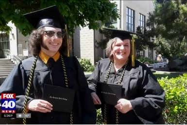 Rhonda and Logan Felkins, mother and son graduates
