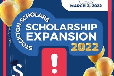 Stockton Scholars scholarship application opens on Oct. 15, 2021
