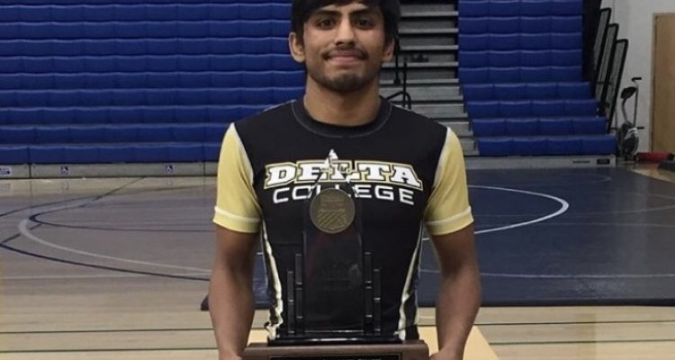 San Joaquin Delta College wrestler Greg Viloria won the state championship over the weekend, finishing the season with an unprecedented 30-0 record.