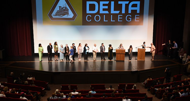 Students attend the 2017 Scholarship Awards Ceremony at San Joaquin Delta College.