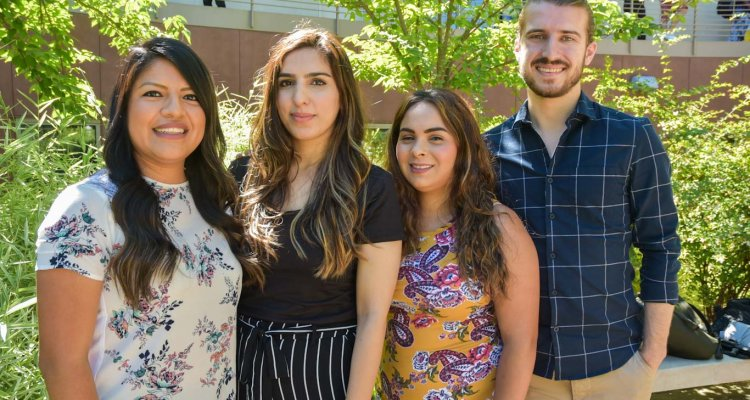 Summer counseling interns Daniela Tapia, Aneeka Ahmed, Karla Herrera and Daniel Costa are offering free mental health counseling services for San Joaquin Delta College students this summer.