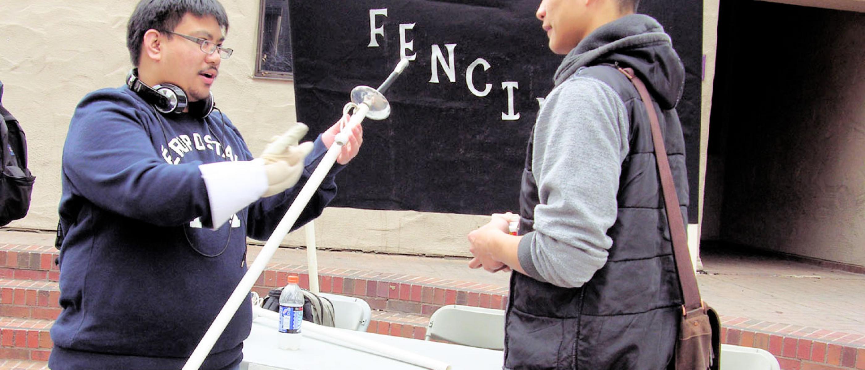 Delta Fencing club meets