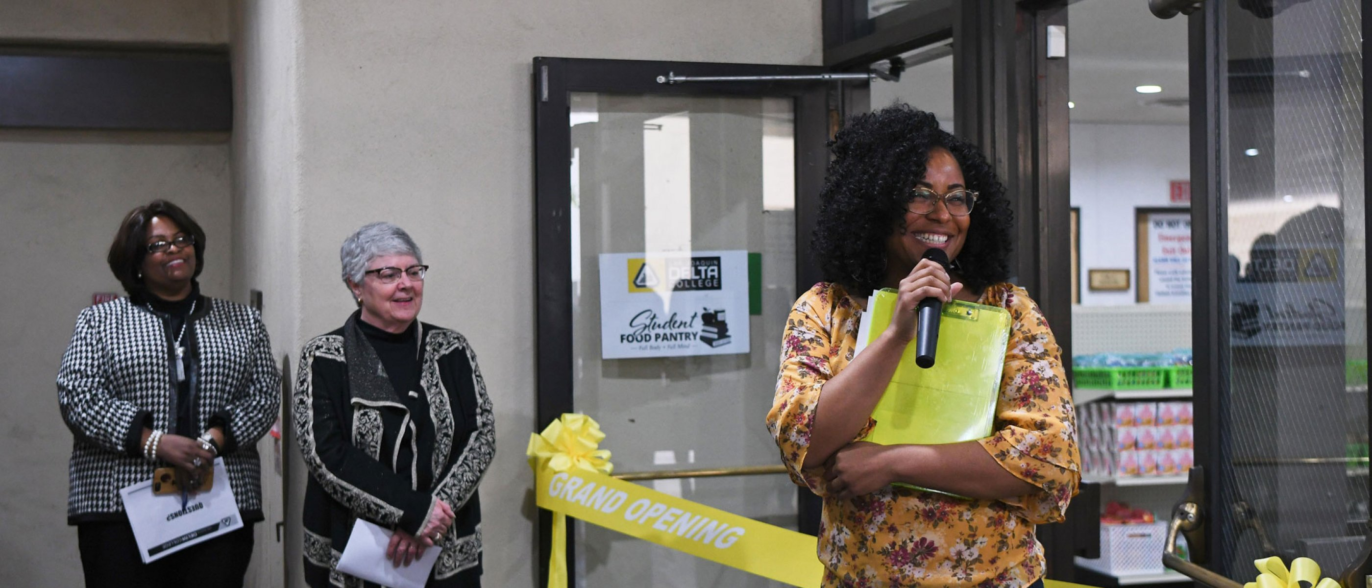 Food Pantry Ribbon Cutting ceremony