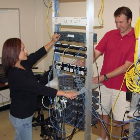 Students work in Cisco networking academy classes