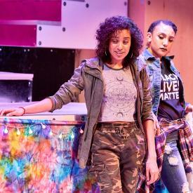 Drama students perform